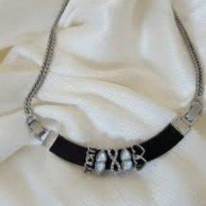 Black Silver $39 Keep Collective Grossgrain Multi Chain Necklace